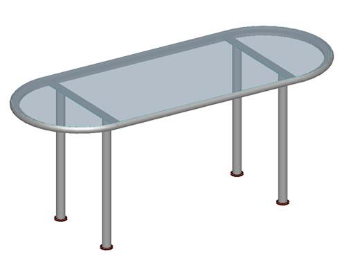 Tavolo modellato