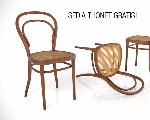 Sedia thonet 3d gratis da dimensiva3dita digital visual for Sedie design 3d