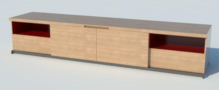3d model free Maxalto Mida cabinet by Antonio Citterio