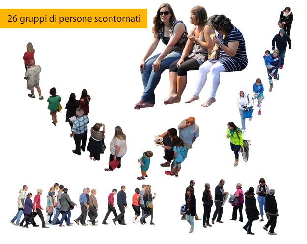 26 gruppi di persone scontornate gratis