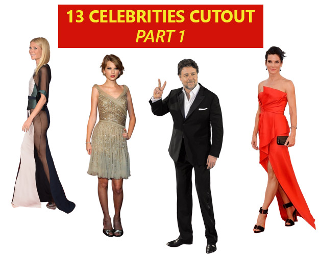 celebriities cut out Part 1